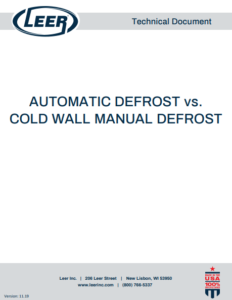 Automatic Defrost vs. Cold Wall Manual Defrost: Which One Should You Choose?